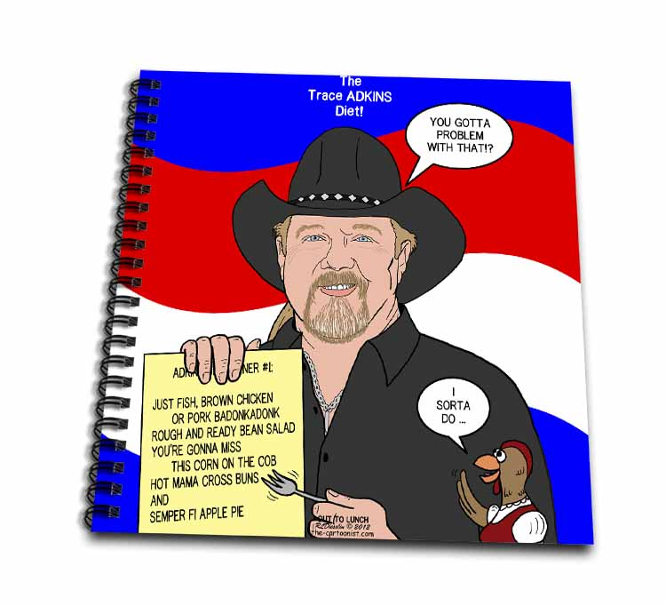 The Trace Adkins Diets Drawing Book