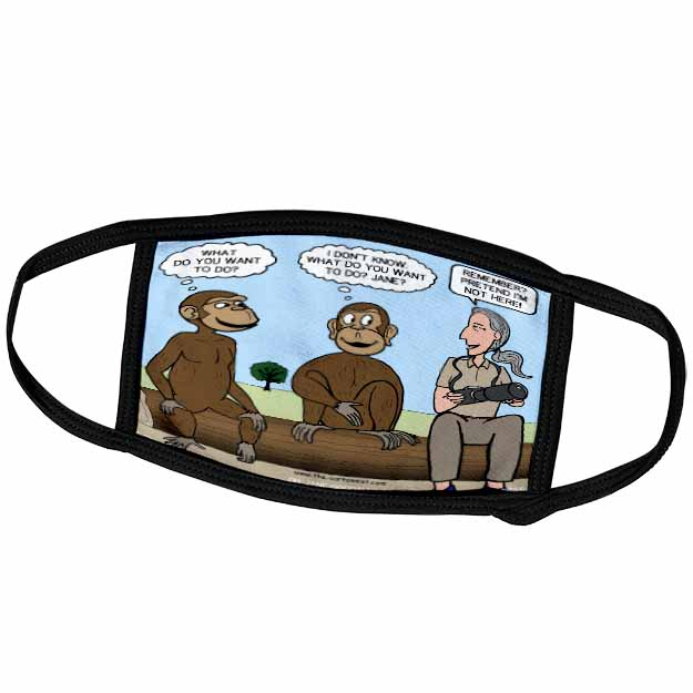 Dr. Jane Goodalls 50th anniversary at GDI - monkey business Face Mask