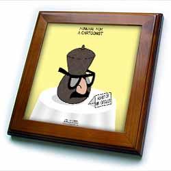 Funeral for a Cartoonist - Groucho Glasses on an Urn Framed Tile