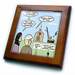 Modernism - Building a Church for Jesus Framed Tile