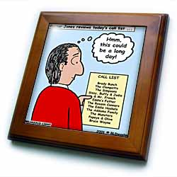 Difficult Pastor Call List Framed Tile