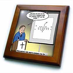 Pastor Telestrator Framed Tile