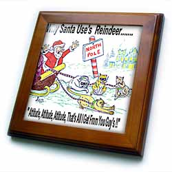 Kevin Edler, Why Santa Uses Reindeer  Framed Tile