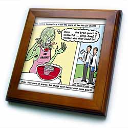 Halloween - Zombie Punch and the Religious Visitors Framed Tile