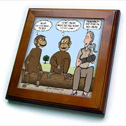 Dr. Jane Goodalls 50th anniversary at GDI - monkey business Framed Tile