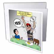 Indianapolis 500 Winner Breakfast Faux Pas aka Milk Accident Greeting Card
