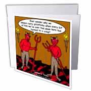 Devilish Questions  Greeting Card
