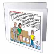 Ten Commandments 7 Stay Faithful to Spouse Greeting Card