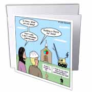 Modernism - Building a Church for Jesus Greeting Card