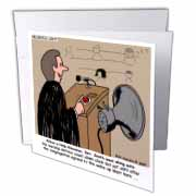 Sermon Count-Down Clock and Blast Horn Greeting Card