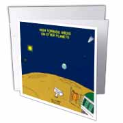 High Tornado Areas on Other Planets Trailer Parks Greeting Card