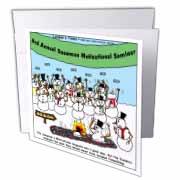 Snowman Motivational Seminar Greeting Card