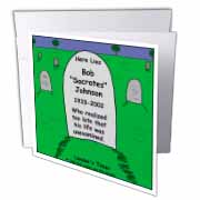 Unexamined Life Tombstone Greeting Card