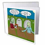 Halloween - Zombies are Invited to Michael Jacksons Party Greeting Card