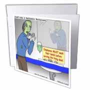 Halloween - Zombie Restaurant Warnings Greeting Card