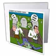 Halloween - Zombie Practical Jokes - Clinton and Nixon Masks Greeting Card