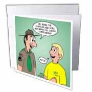KNOTS cartoon - Scout confession and the chaplain aide Greeting Card