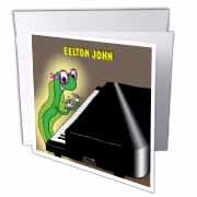 Eelton John the piano player Greeting Card