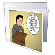 Prayer and Cell Phones Greeting Card