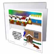 Simple Nativity Wins Neighborhood Christmas Display Contest Greeting Card
