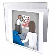 Eye Chart Word Search - Visit to the Eye Doctor Greeting Card