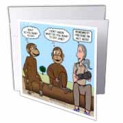 Dr. Jane Goodalls 50th anniversary at GDI - monkey business Greeting Card