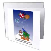Larry Miller - Santa Takes Advantage of His Diving Lessons Greeting Card