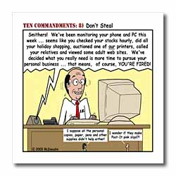 Ten Commandments 8 Dont Steal Iron on Heat Transfer