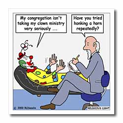 Pastor Problems with Clown Ministry Iron on Heat Transfer