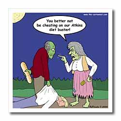 Halloween - Zombie on Atkins Diet Iron on Heat Transfer