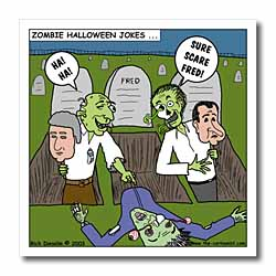 Halloween - Zombie Practical Jokes - Clinton and Nixon Masks Iron on Heat Transfer