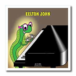 Eelton John the piano player Iron on Heat Transfer