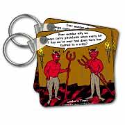 Devilish Questions  Key Chain