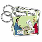 Daly - The Times They Are A Changin Key Chain
