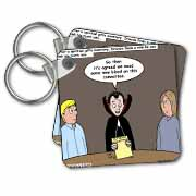 Dracula on the Church Outreach Committee Key Chain