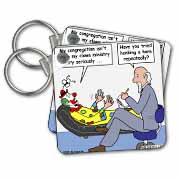 Pastor Problems with Clown Ministry Key Chain