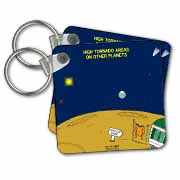 High Tornado Areas on Other Planets Trailer Parks Key Chain