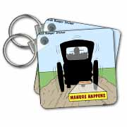 Manure Happens Key Chain