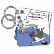 Eye Doctor - Glaucoma Test Key Chain