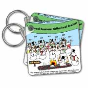 Snowman Motivational Seminar Key Chain