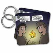 Knots Cartoon - Burnt Marshmallow smores - yum Key Chain