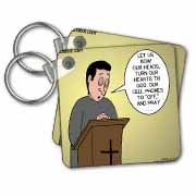 Prayer and Cell Phones Key Chain