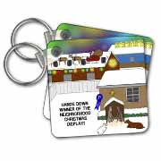 Simple Nativity Wins Neighborhood Christmas Display Contest Key Chain