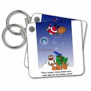 Larry Miller - Santa Takes Advantage of His Diving Lessons Key Chain