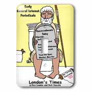 Early Bathroom Reading  Light Switch Cover