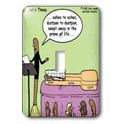 Broom Funerals  Light Switch Cover