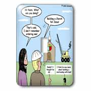 Modernism - Building a Church for Jesus Light Switch Cover