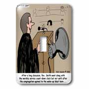 Sermon Count-Down Clock and Blast Horn Light Switch Cover