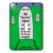 Unexamined Life Tombstone Light Switch Cover