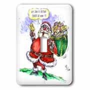 VAL Cartoon about Gift Card Giving for Christmas Light Switch Cover